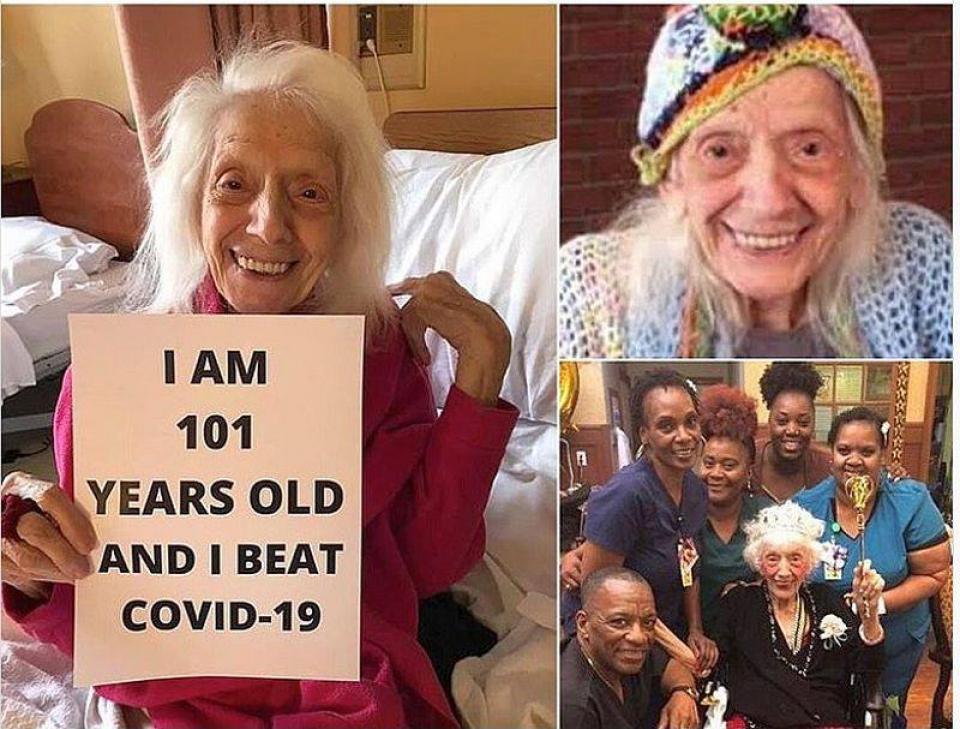 Vârstnica de 101 ani   Foto: Daily Mail/Instagram