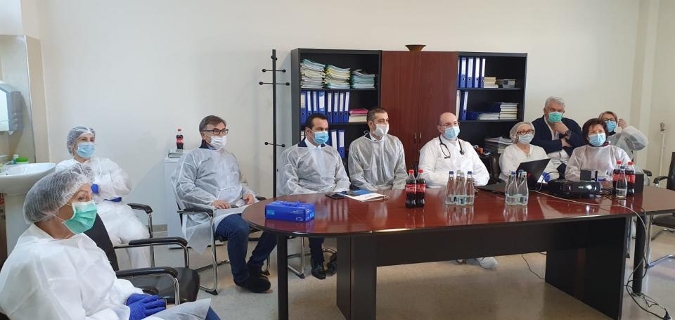Imagine din timpul videoconferinței  FOTO: Cj Maramureș