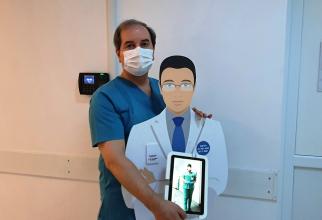 Echipa medicală viruală de la Spitalul Militar.Foto – Daniela Gheorghe