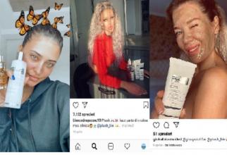 Antonia, Bianca și Gina fac reclamă produselor în cauză