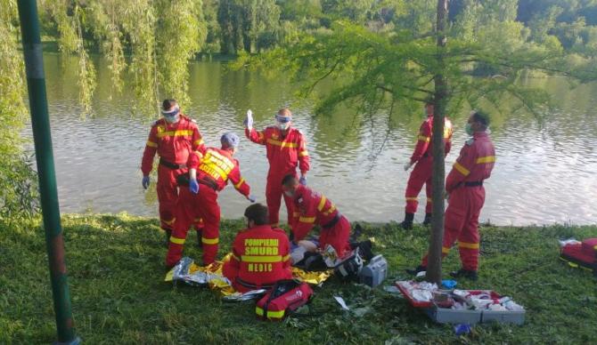 În ciuda manevrelor de resuscitare, bărbatul nu a putut fi salvat. Foto: ISU București-Ilfov
