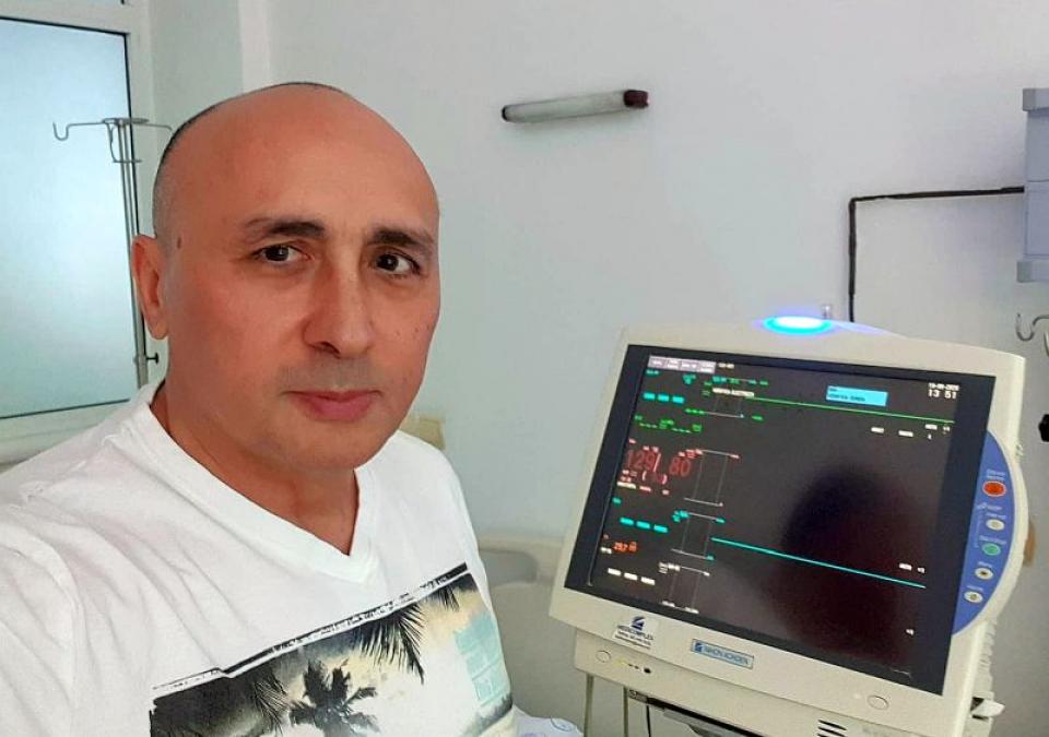 Marcel Pavel, în spital. Foto: Facebook