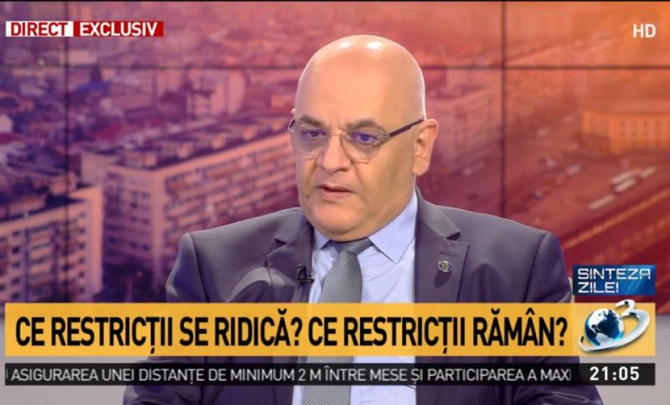 Secretarul de stat Raed  Arafat. Foto: Print screen Antena3