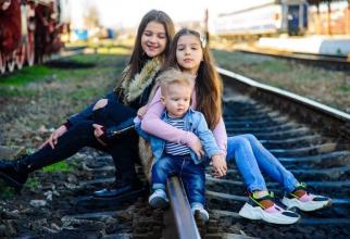 Cei trei copii ai Simonei Leonte Alb. Foto: Arhiva personală