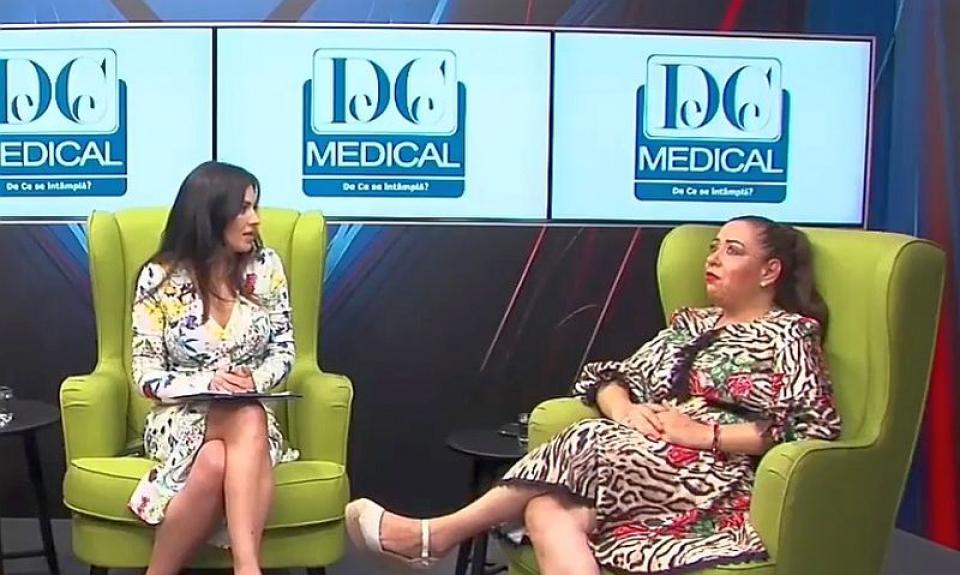 Oana Roman (dreapta), confesiuni la Interviurile DC News și DC Medical