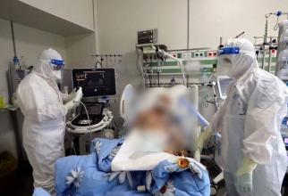Pacienți COVID-19, spitalul ROL 2 Ana Aslan. Foto: print screen / Spitalul Militar Central