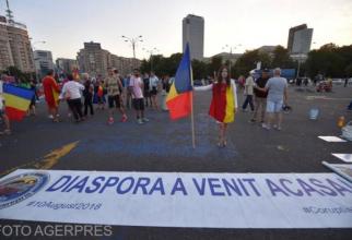 Protest 10 august. Foto: Agerpres