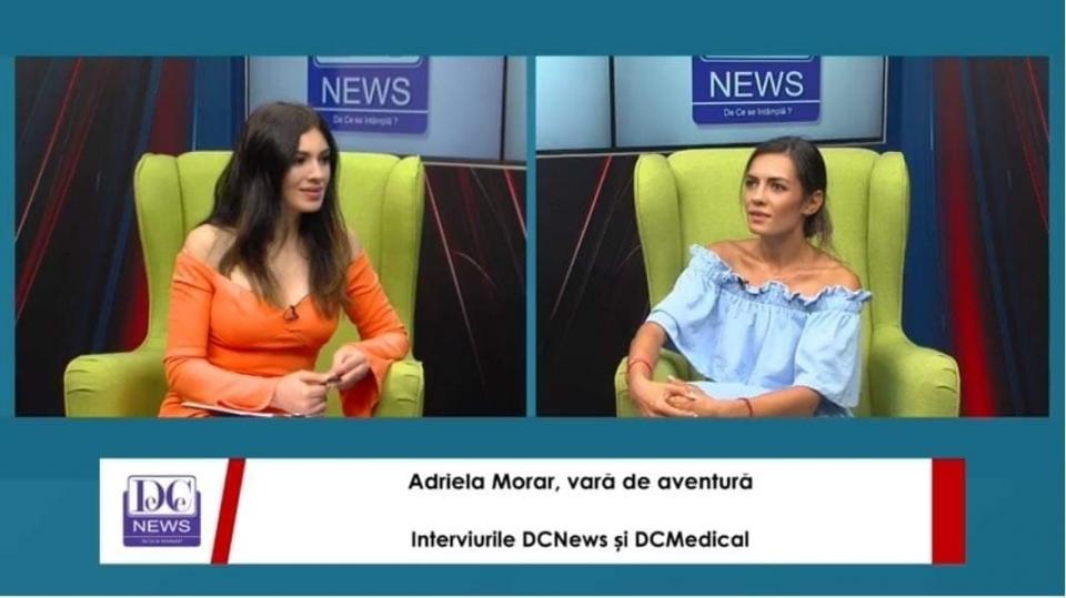Actrița Adriela Morar, la Interviurile DC News și DC Medical