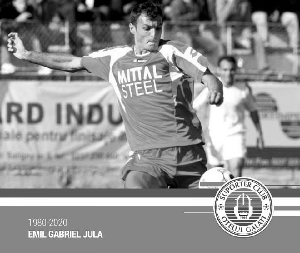 Emil Jula, fostul fotbalist, a făcut infarct la 40 de ani. Foto: SC Oțelul Galați / Facebook