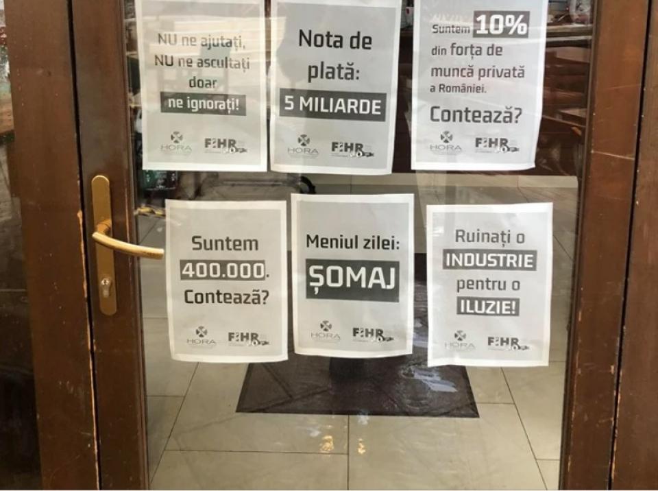 Protest HoReCa