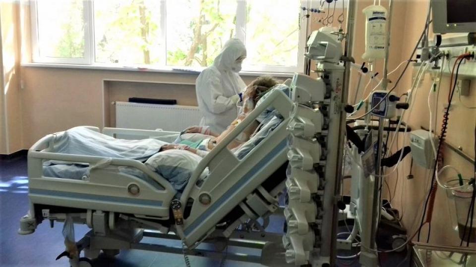 Pacient COVID-19, internat la SPitalul Colentina. Foto: Facebook / Spitalul Colentina