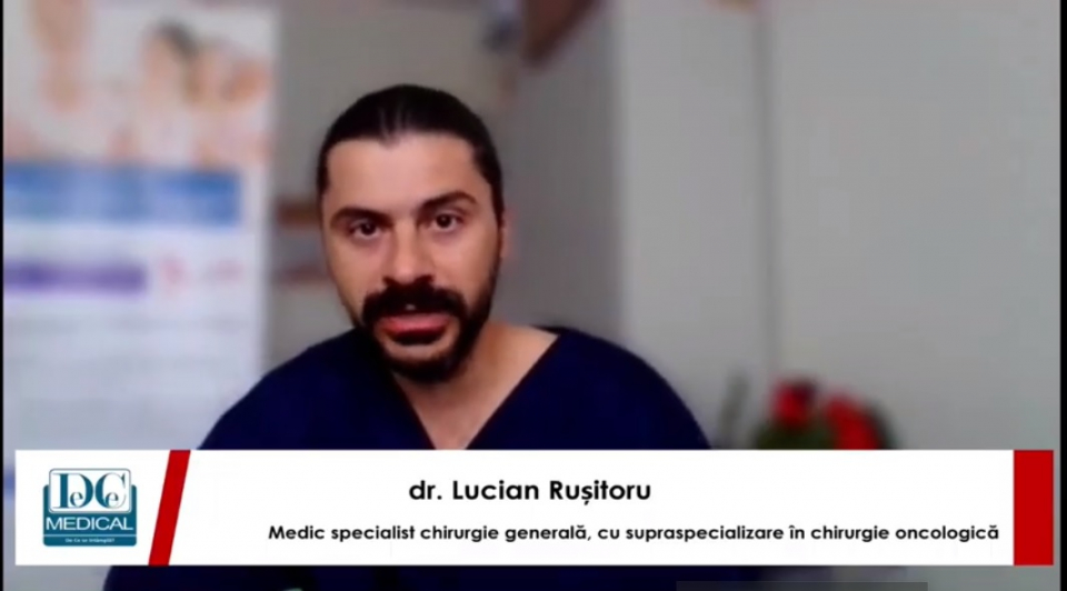 Dr. Lucian Rușitoru, medic specialist chirurgie generală, cu supraspecializare în chirurgie oncologică