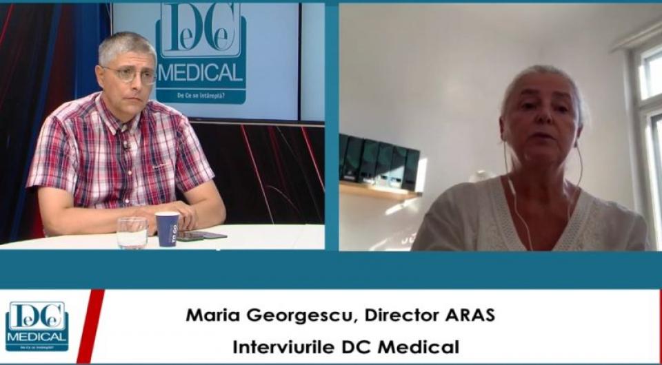 Dr Maria Georgescu, la Interviurile DC News și DC Medical, emisiune realizată de Val Vâlcu.