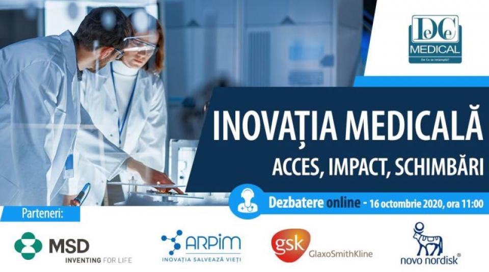 """Dezbaterea online """"Inovația medicală: acces, impact, schimbări"""""""