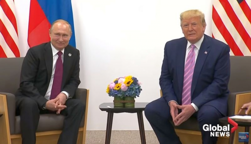 Vladimit Putin și Donald Trump. Foto: Print screen Global News