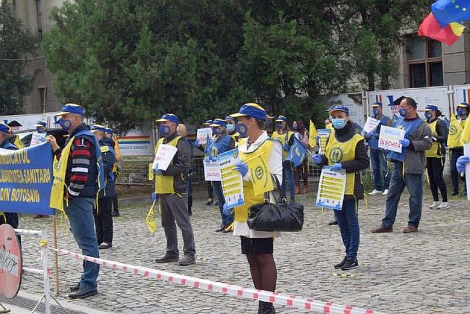 Protest Solidaritatea Sanitară. Foto: Facebook