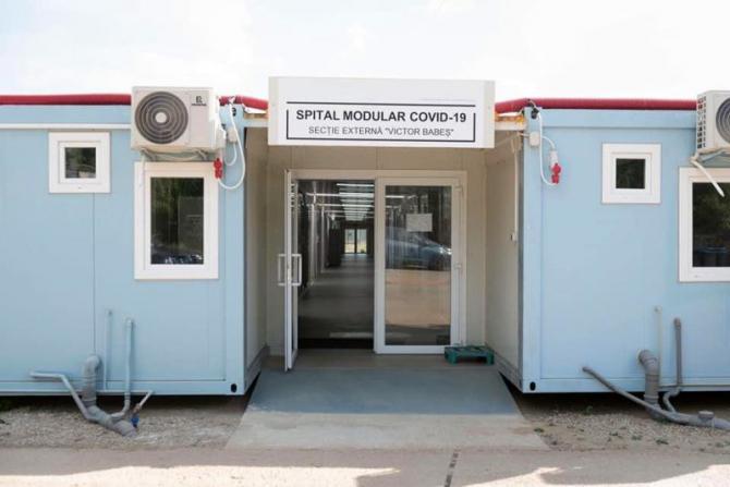 Spitalul modular din Pipera, secție externă a SPitalului Victor Babeș, a fost deschis în august. Foto: ASSMB