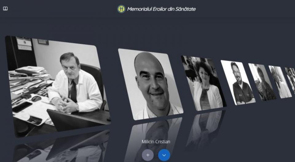 Memorialul Eroilor din Sănătate. Foto: Print screen