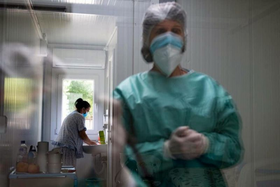Spitalul modular Pipera. Foto: ASSMB