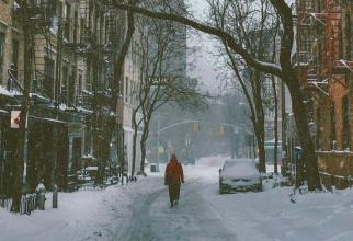 Zapada și gheață pe stradă. Foto: Pixabay