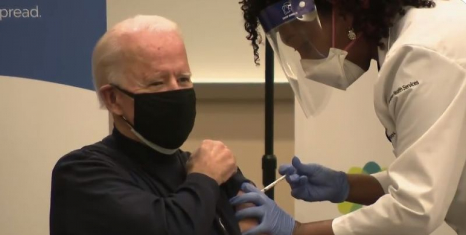 Joe Biden, vaccinat anti COVID-19. Foto: Print screen ABC News