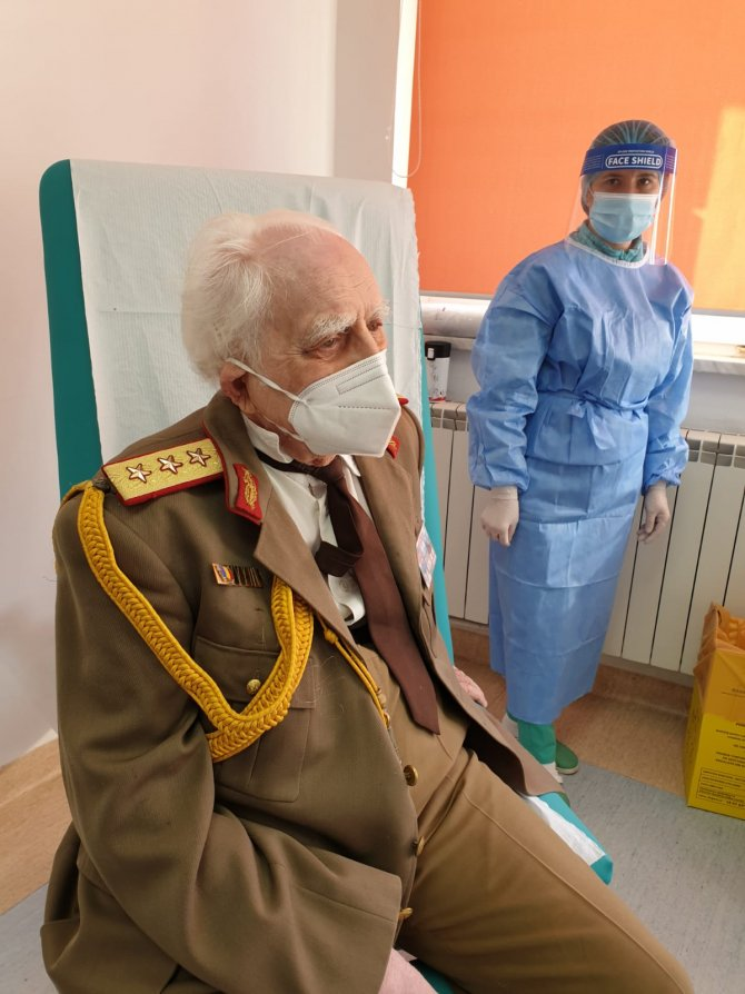 Octavian Leru, președintele de onoare al Veteranilor de Război  FOTO: Facebook Ro Vaccinare