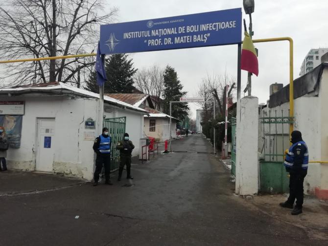 La Institutul Matei Balș din București a avut loc vineri, 29 ianuarie, un incendiu puternic  FOTO: Crișan Andreescu