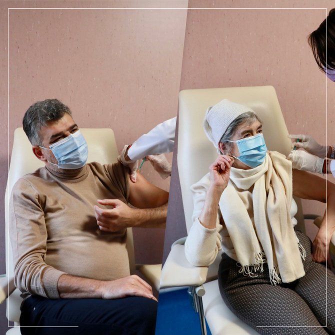 Liderul PSD Marcel Ciolacu s-a vaccinat împotriva COVID, după mama sa  FOTO: Facebook Marcel Ciolacu