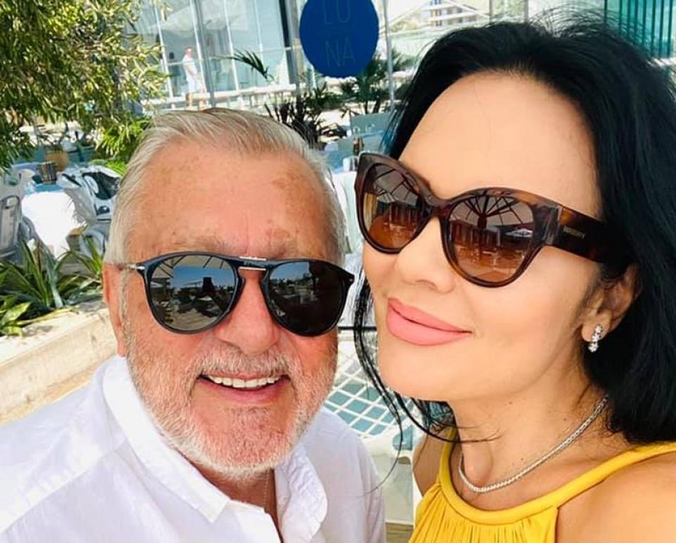Ioana și Ilie Năstase, în vara anului trecut. Foto: Facebook
