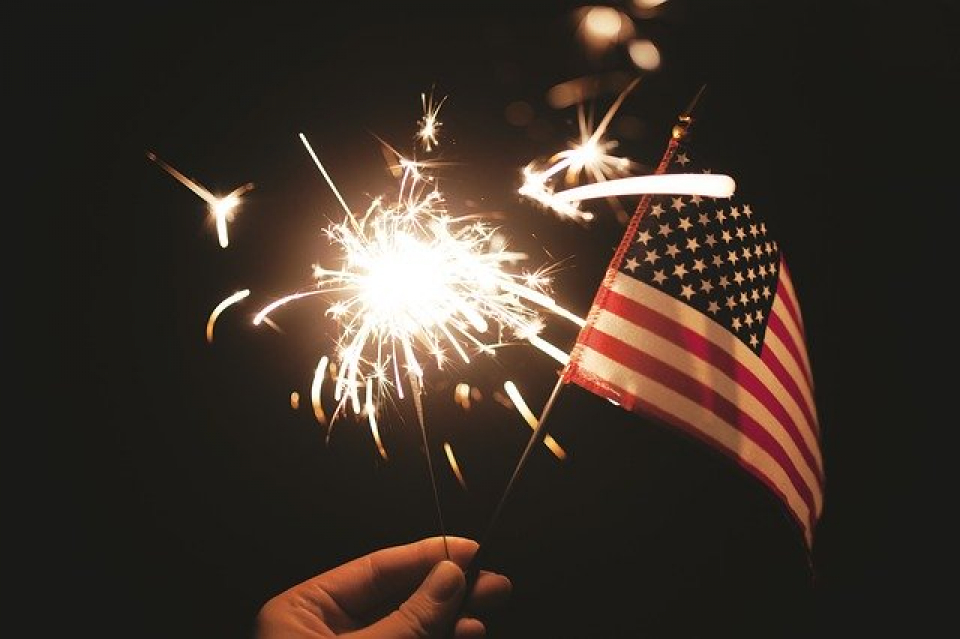 Steagul american, un simbol al democrației  FOTO: Pixabay