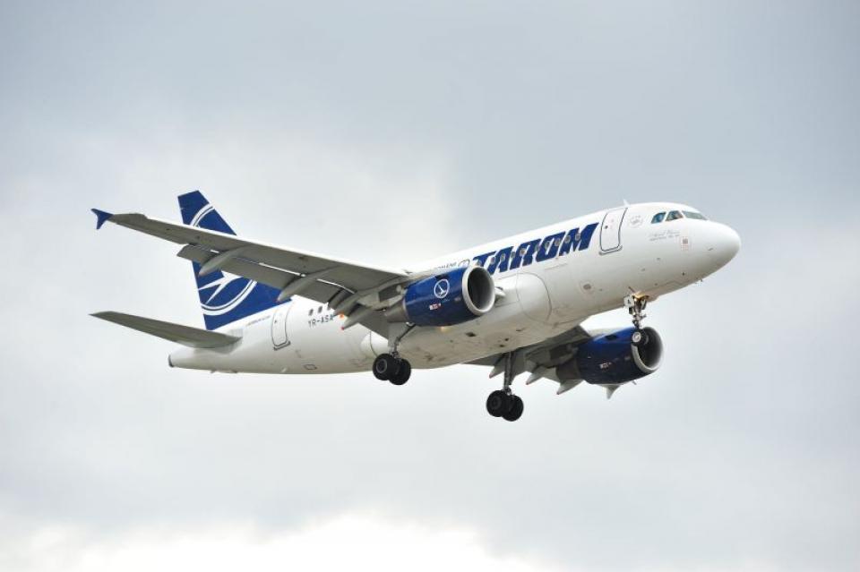 Aeronavă Tarom, zbor de zi. Foto: Facebook