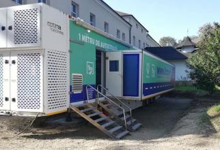 Unitatea mobilă de ATI de la SPitalul Județean Suceava. Foto: Crucea Roșie Suceava