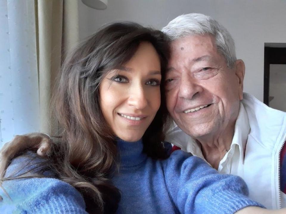 Ioana și tatăl ei Ion Dichiseanu. Foto: Facebook