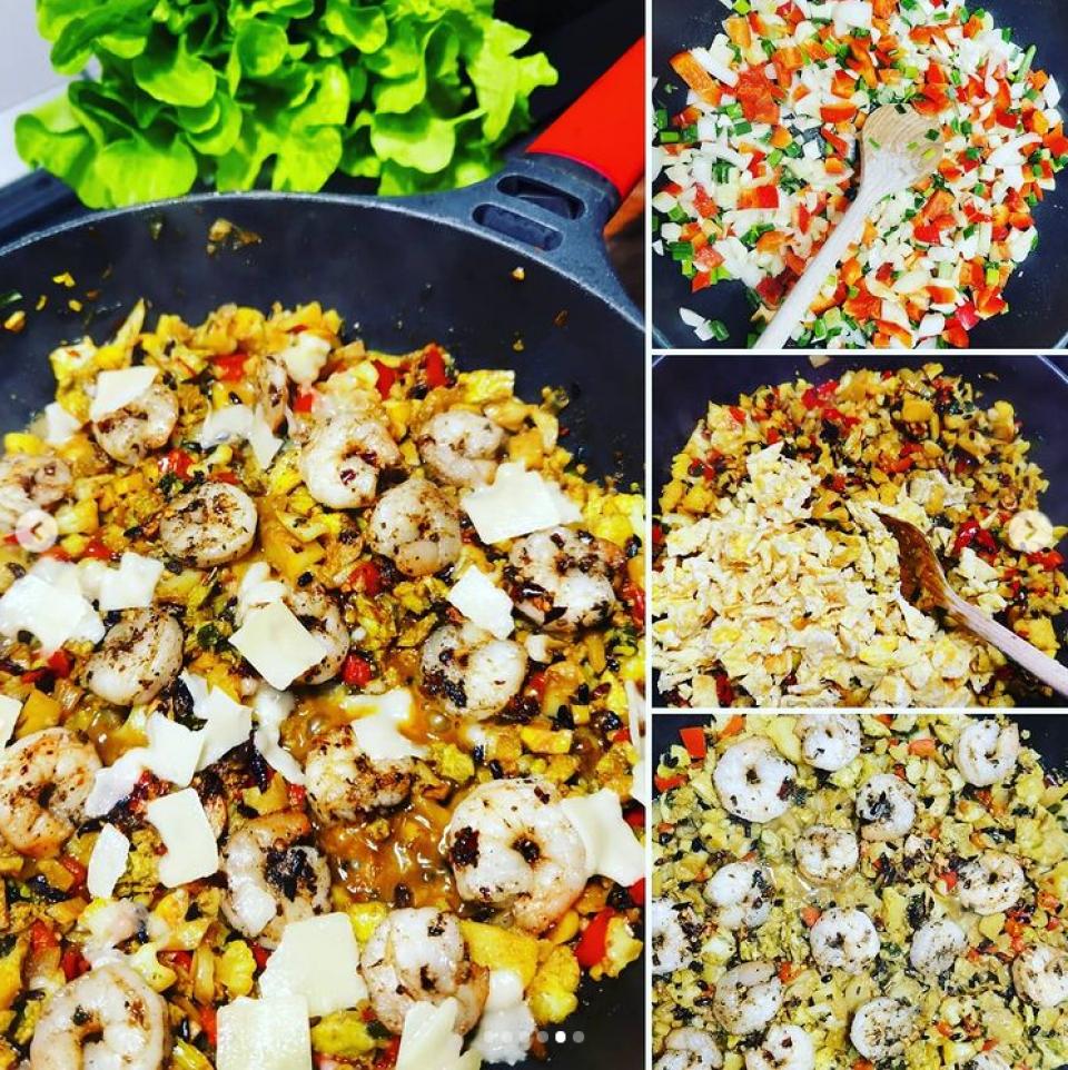 Rețetă Paella super-sănătoasă, fără carbohidrați, FOTO instagram Andreea Marin