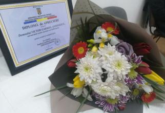Diploma primită de tânăr