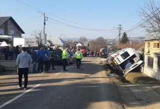 Accident Arbore, Suceava. Foto: ISU Suceava