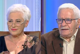 Numerologul Mihai Voropchievici și bioenergoterapeutul Lidia Fecioru. Foto: Print Screen Antena3