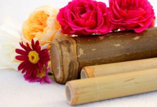 Masajul cu betele de bambus poate reduce retenția de apă. Foto: Pixabay