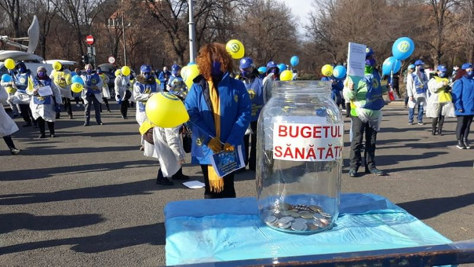 Protest Federația Solidaritatea Sanitară. Foto: DC Medical