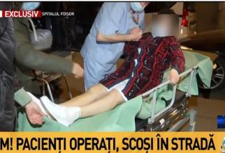 Pacienți evacuați. Foto: Print screen Antena 3
