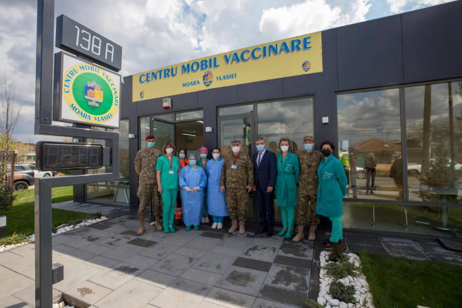 Centre mobile de vaccinare  Foto: Col. Oana Ciobanu și Daniel Iancu