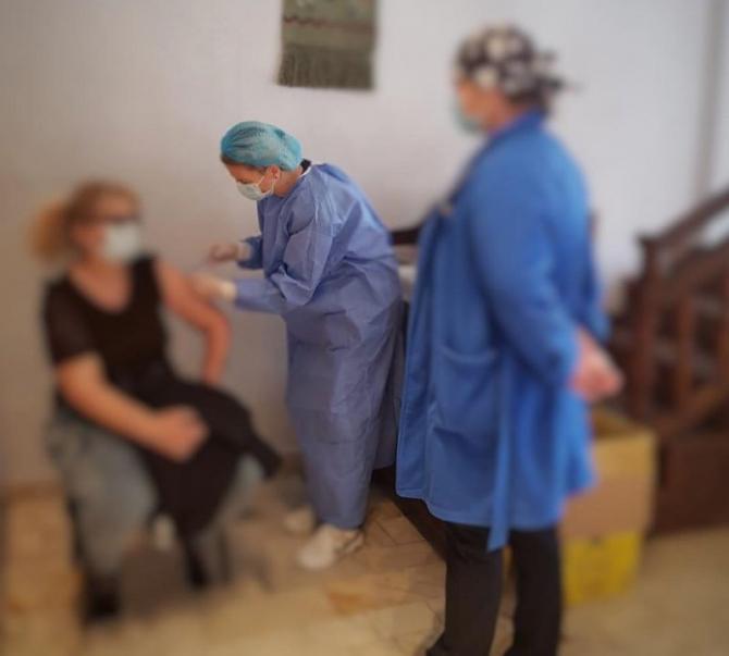 Personalul restaurantelor și al hotelurilor, vaccinat la Hanu lui Manuc. Foto: CNCAV