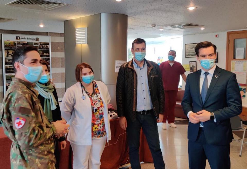 Conducerea CNCAV, în vizită în județul Giurgiu FOTO: Facebook Ro Vaccinare
