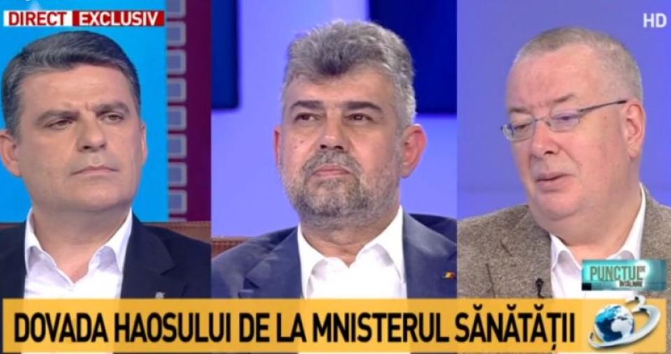 Bogdan Chirieac, dreapta, despre criza de citostatice. Foto. Print screen Antena 3