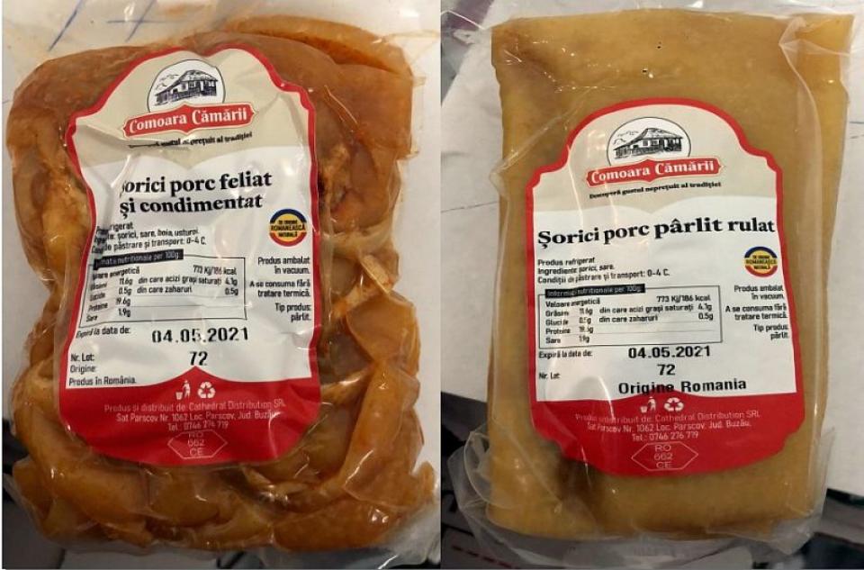Șorici infestat cu Listeria la Carrefour