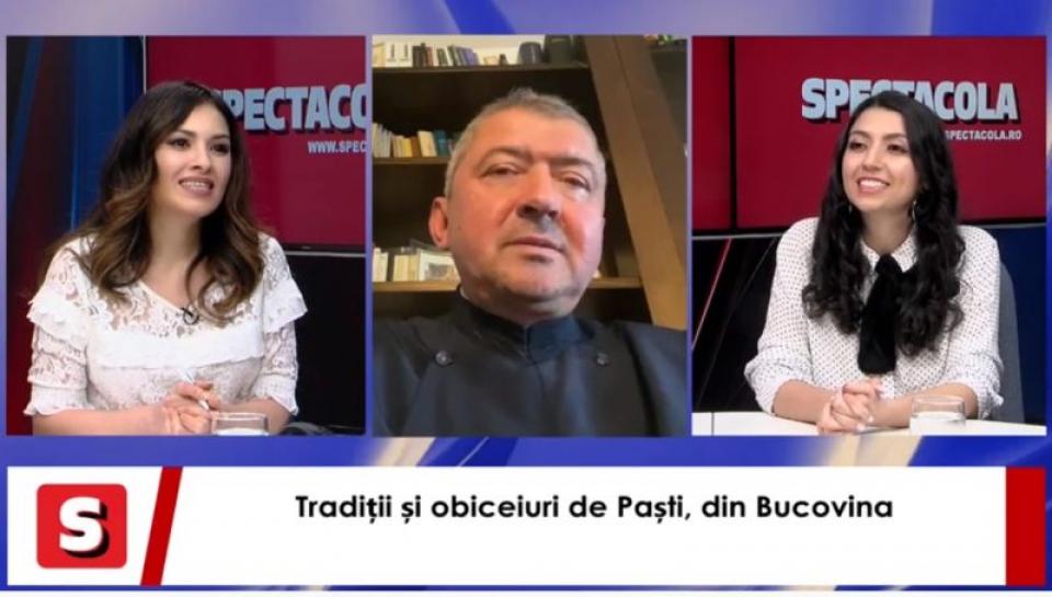 Preotul Viorel Ioan Vârlan și artista Maria Andreea, la Interviurile de Weekend