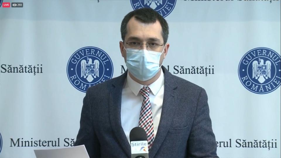 Ministrul Sănătății Vlad Voiculescu