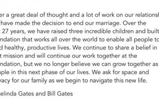 Anunt divort Bill și Melinda Gates