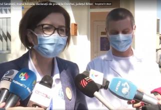 Ioana Mihăilă, delcarații de presă la Oșorhei, Bihor