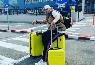 What's Up, la aeroport înainte de plecarea din țară. Foto: Instagram
